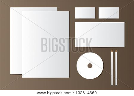 Template for submission of corporate identity. Vector illustration.