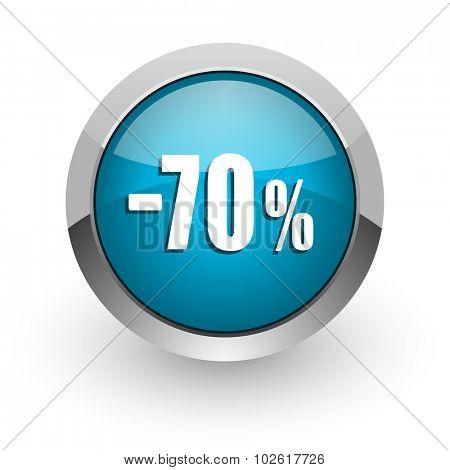 70 percent sale retail icon