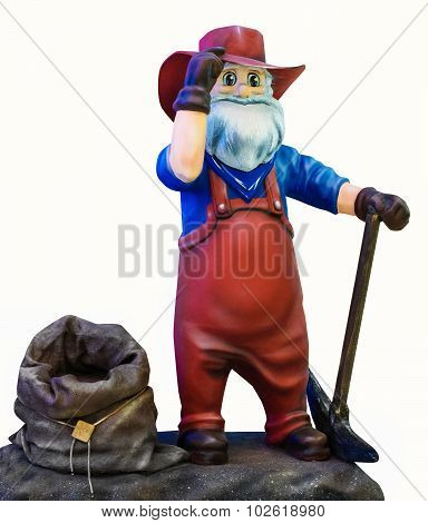Dwarf with a bag
