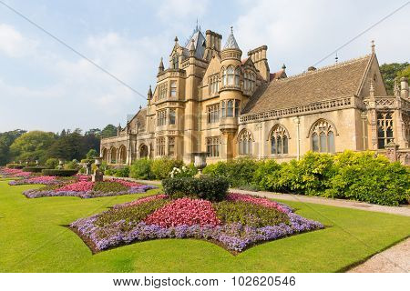 Victorian mansion and stately home Beautiful flower gardens Tyntesfield House near Wraxall Somerset