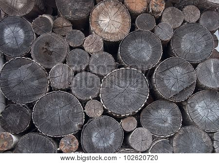Stack Of Old Firewood