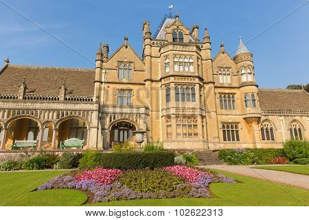 Tyntesfield House near Bristol Somerset England UK a tourist attraction beautiful flower gardens