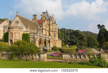 Visitors at Tyntesfield House near Bristol Somerset England UK