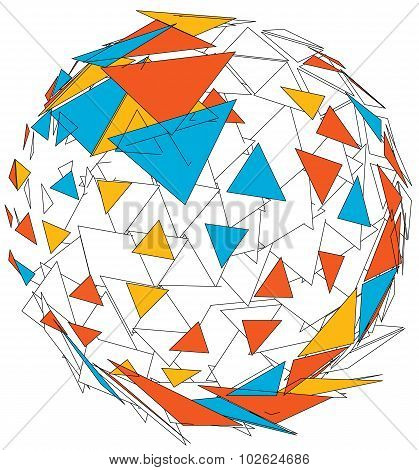 Abstract colorful 3d sphere