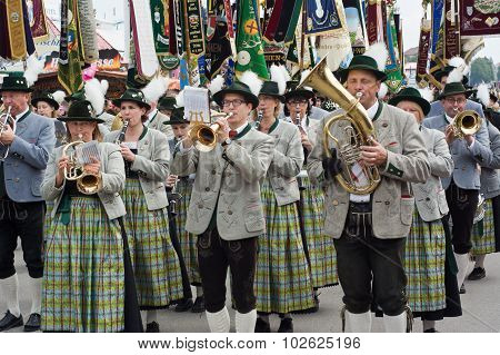 Oktoberfest Marching Band With Instruments