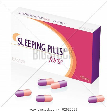 Sleeping Pills Drugs Packet