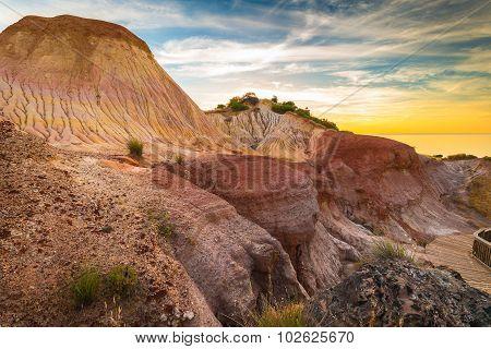 Hallett Cove Landscape At Sunset