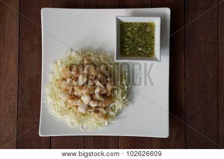 Fried Squid Eggs