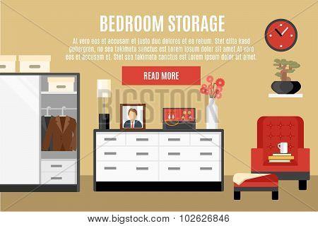 Bedroom Storage Illustration