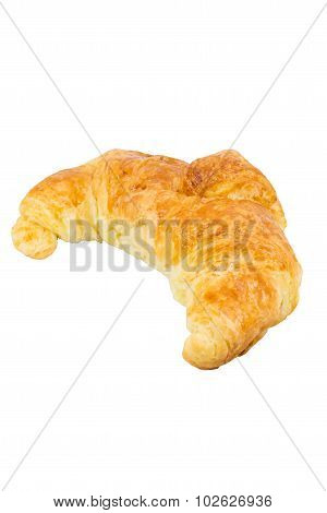 Croissant Bread Isolated On White Background