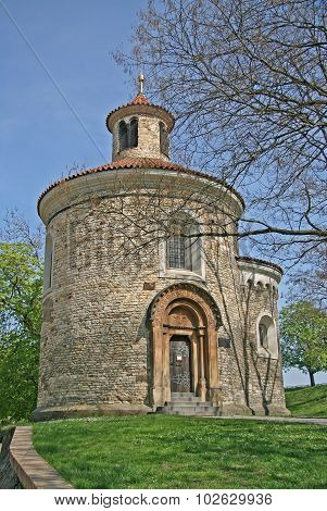 Oldest Rotunda Of St. Martin In Vysehrad, Prague, Czech Republic