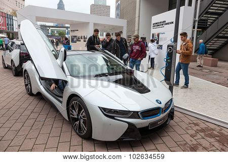 Electric Sports Car Bmw I8 At The Iaa 2015