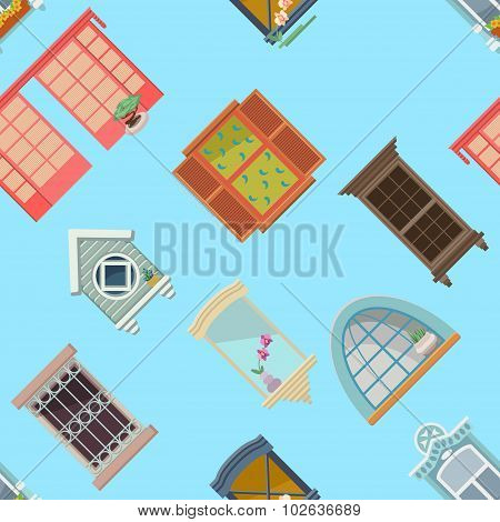 Background With Vintage Windows