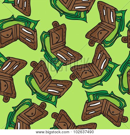 wallet seamless pattern