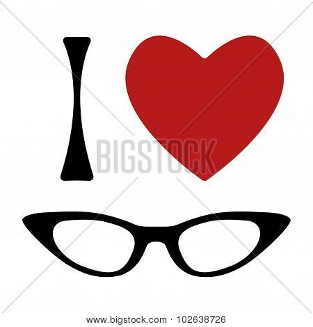 I love glasses print