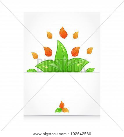 Autumn seasonal nature background with changing leaves