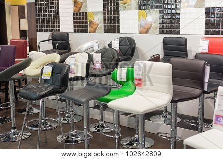 MOSCOW, RUSSIA - 24.09.2015. The interior of the shop Hoff - one of the largest Russian furniture ne