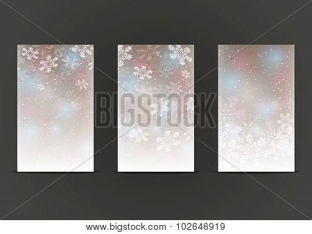 Set of 240 x 400 shiny banners