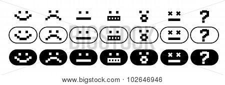 Pixel Smiles Set
