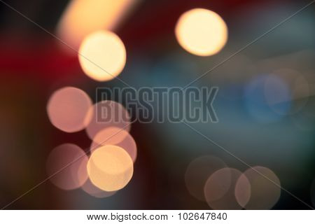 Bokeh Blur Abstract Of City Life Background Split-tone