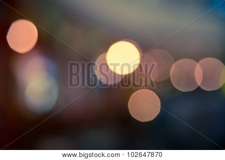 Bokeh Blur Abstract Of City Life Background