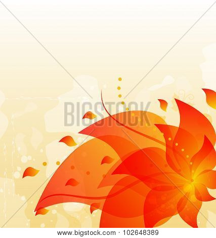 Abstract floral background with copy space