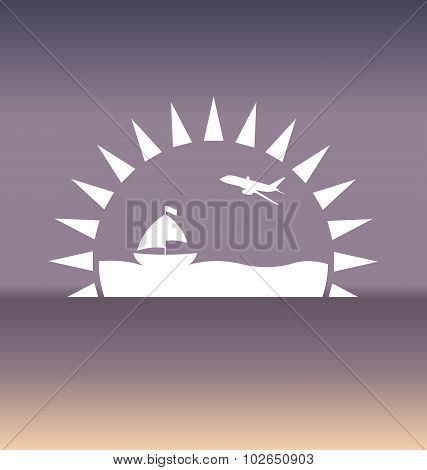 Design template with summer holiday background