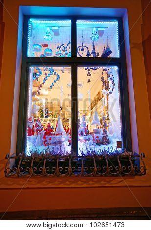 Christmas Souvenirs Seen Through A Window