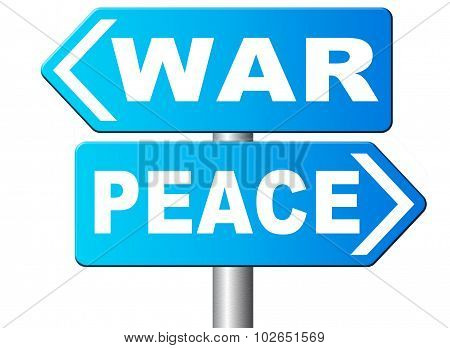 War Peace Conflict Zone