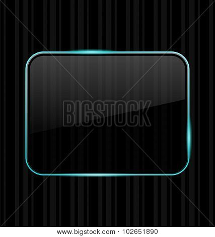 Transparent frame with reflection on striped background