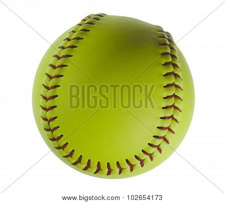 Softball isolated on white.
