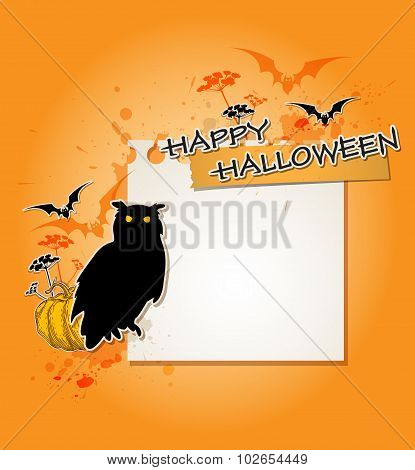 Halloween Background With Owl