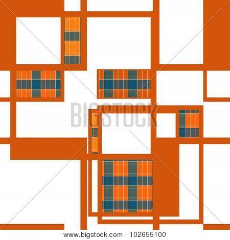 Seamless Retro Geometrical Square Texture Pattern Background