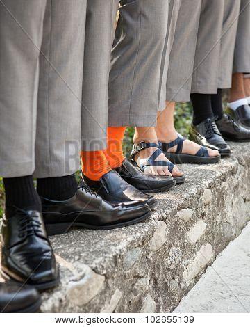 groom and groomsmen socks and shoes
