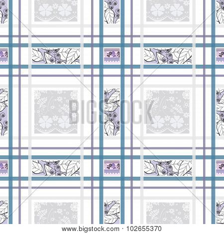 Patchwork Seamless Pattern Geometrical Design Background