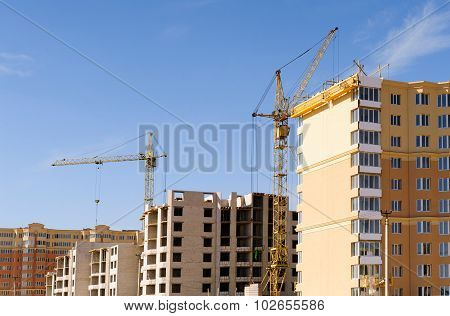 Tower crane on construction site