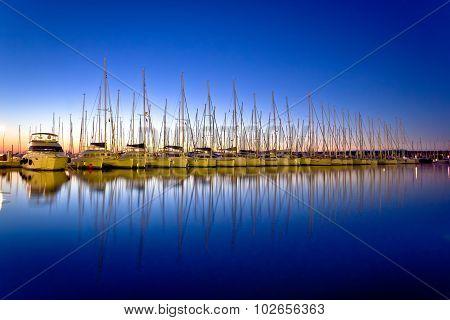 Calm Evening In Sailing Harbor