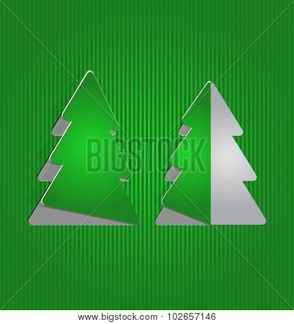 Christmas cutout paper tree, minimal background