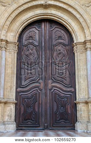 Vintage wood door.