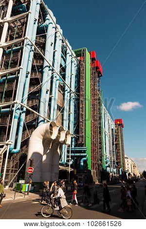 Paris, France-september 19, 2015:georges Pompidou Center(beaubourg).