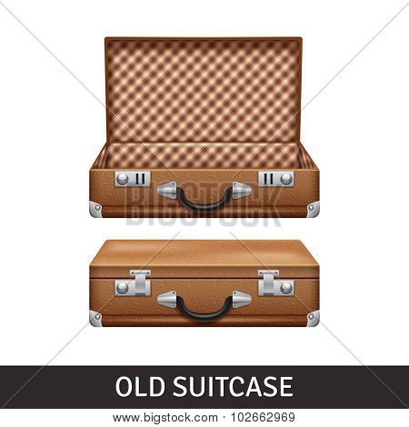 Old Suitcase Illustration