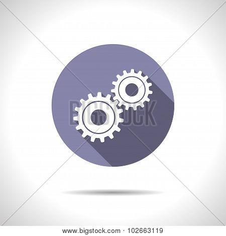 Vector cogwheel icon. Epsflat0
