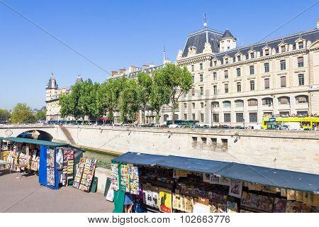 Souvenir shops in the Latin Quarter, Paris, France