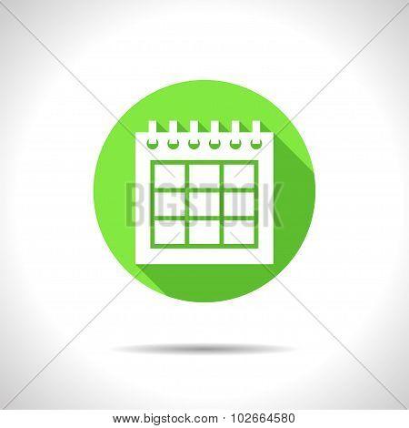 Vector calendar icon. Epsflat0