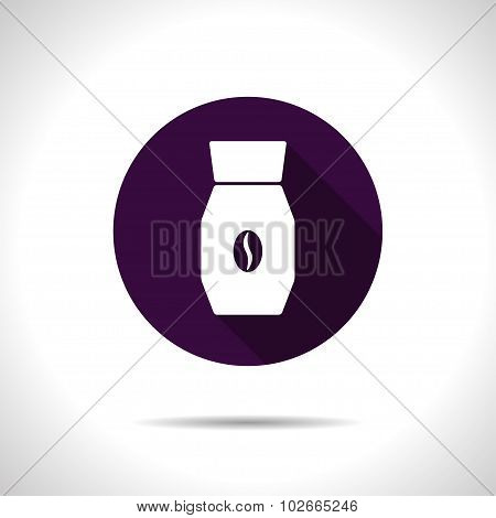 Vector color flat coffee bottle template