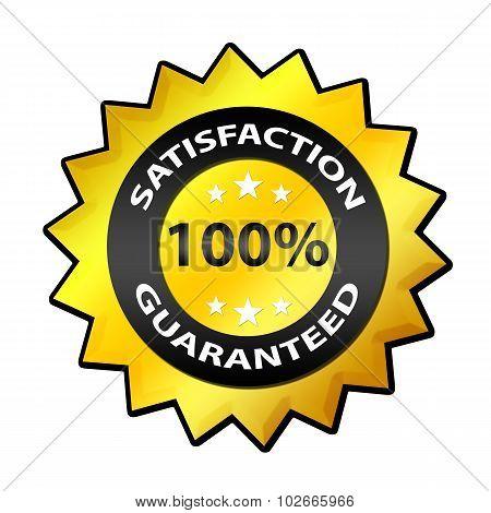 Satisfaction guaranteed 100 % label