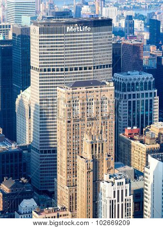 NEW YORK,USA - AUGUST 15,2015 : The Metlife building in New York City