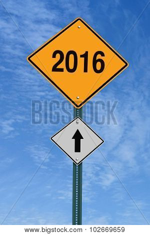 2016 Ahead Road sign