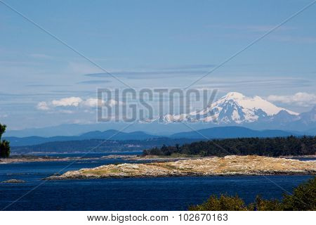 View Of Mt Rainier From Victoria, Bc