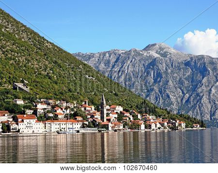 The Little Resort Town Of Perast On The Adriatic Coast